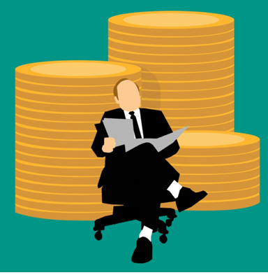 Businessman with funds