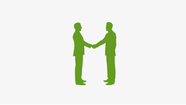 Image of American business lenders in Maryland shaking hands