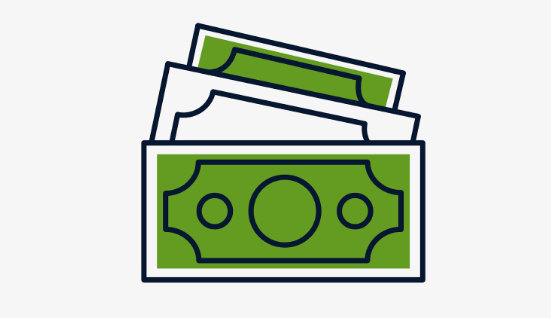 Picture of dollar bills signifying small business funding options in Maryland
