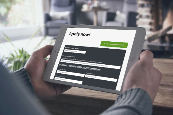 Picture of how to apply online for short term business loans on an ipad