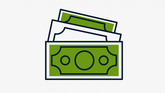 Image of money signifying commercial business loan