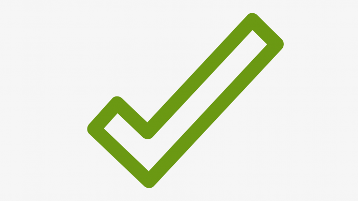Picture of green checkmark signifying commercial business loan options