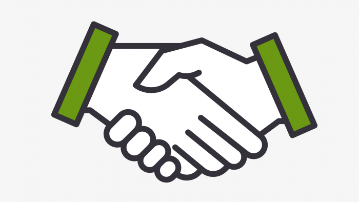 Image of shaking hands representing agreement with Maryland business funding lender
